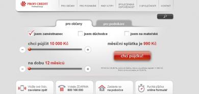 Profi Credit - Nebankovní půjčky
